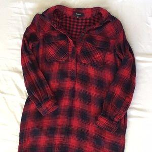 Madewell plaid tunic
